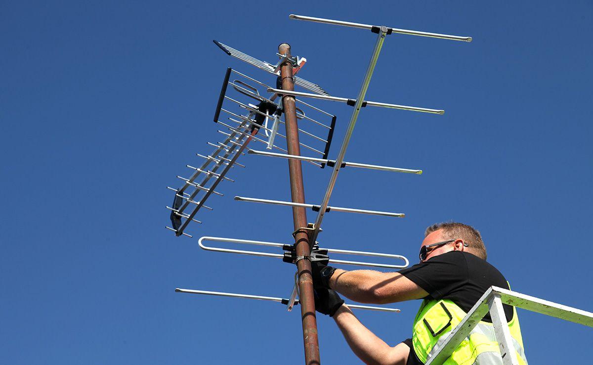 UHF-antenni ja VHF-antenni